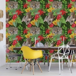 Jungle Pattern Cheetah Photo Wallpaper Wall Mural