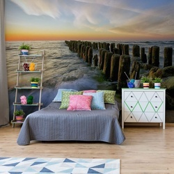 Lace Sunset Photo Wallpaper Mural