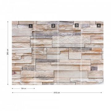 Light Stone Wall Texture Photo Wallpaper Wall Mural