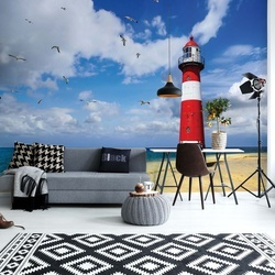 Lighthouse Beach Photo Wallpaper Wall Mural