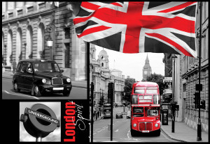 London Black And White Photo Wallpaper Wall Mural