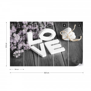 Love Letters Vintage-Chic Photo Wallpaper Wall Mural