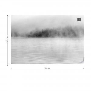 Mist on the Water in Black & White
