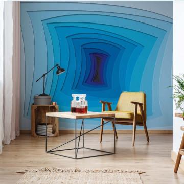 Modern Design 3D Blue Photo Wallpaper Wall Mural