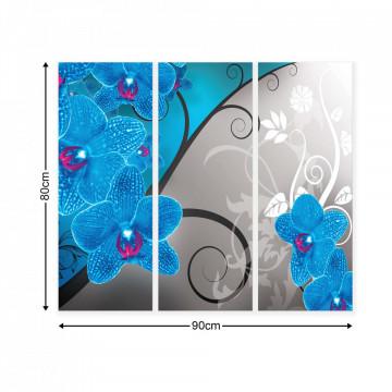 Modern Flowers, Nature, & Swirls Canvas Photo Print