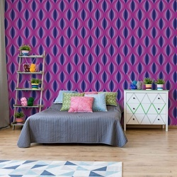 Modern Pattern Purple Pink Photo Wallpaper Wall Mural
