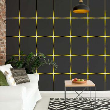 Modern Square Design Yellow Lights Photo Wallpaper Wall Mural