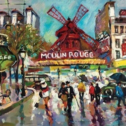 Moulin Rouge Painting Photo Wallpaper Wall Mural