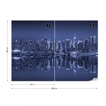 New York – Reflexie în Apă, Albastru