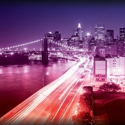 New York City Lights Photo Wallpaper Wall Mural