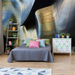 Organic Metal Photo Wallpaper Mural