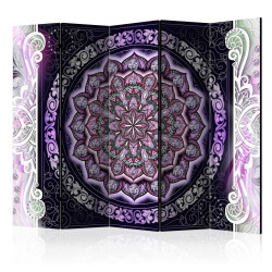 Paravan - Round Stained Glass (Violet) II [Room Dividers]