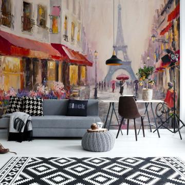 Paris Art Painting Photo Wallpaper Wall Mural