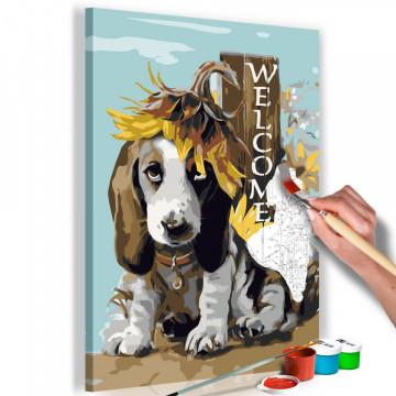 Pictatul pentru recreere - Dog and Sunflowers