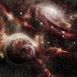 Planets Galaxy Outer Space Photo Wallpaper Wall Mural