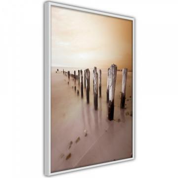 Poster - Breakwater in Sepia