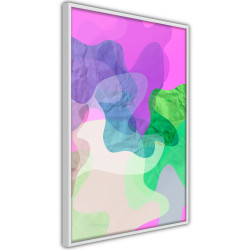 Poster - Colourful Camouflage (Pink)