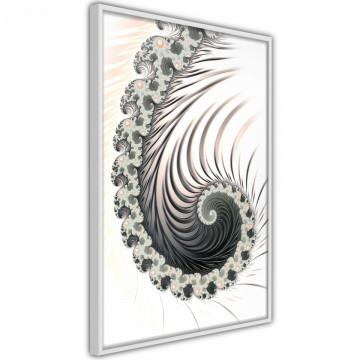 Poster - Fractal Spiral (Positive)