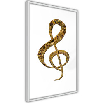 Poster - Golden Treble Clef
