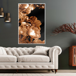 Poster - Summer Flowers in Sepia