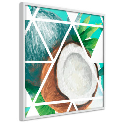 Poster - Tropical Mosaic with Coconut (Square)