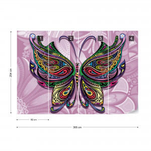 Pyschedelic Butterfly Photo Wallpaper Wall Mural