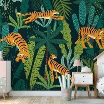 Retro Jungle Tigers