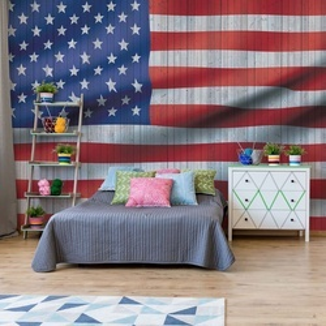 Rustic American Flag Usa Photo Wallpaper Wall Mural