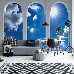 Sky 3D Archway View Photo Wallpaper Wall Mural