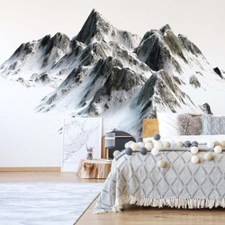 Snowy Mountain Photo Wallpaper Wall Mural