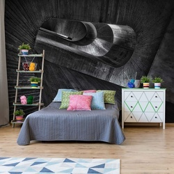 Staircase Concrete Photo Wallpaper Mural