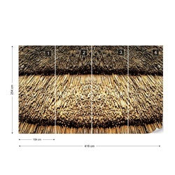 Straw Roof Texture Photo Wallpaper Wall Mural