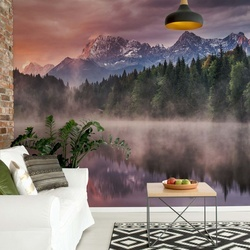 Sunrise At The Lake Photo Wallpaper Mural