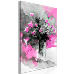 Tablou - Bouquet of Colours (1 Part) Vertical Pink
