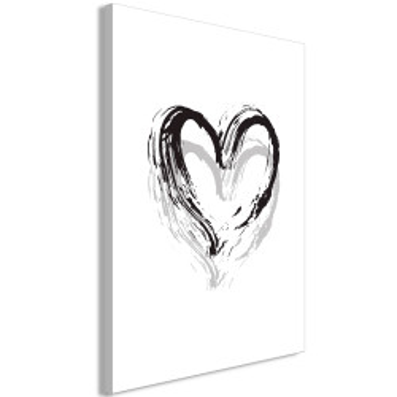 Tablou - Brush Heart (1 Part) Vertical