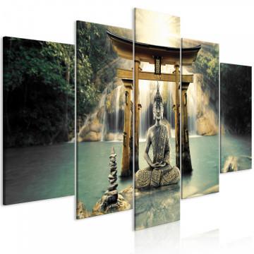 Tablou - Buddha Smile (5 Parts) Wide