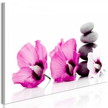 Tablou - Calm Mallow (1 Part) Narrow Pink