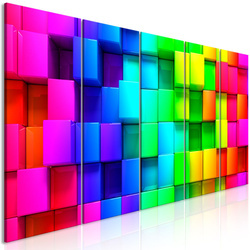 Tablou - Colourful Cubes (5 Parts) Narrow