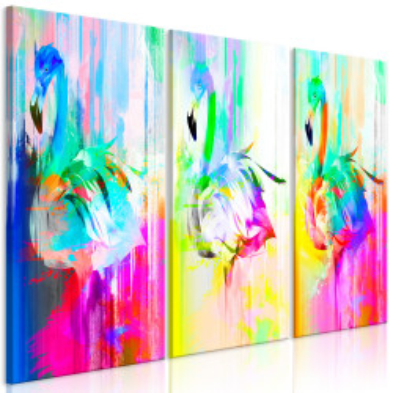 Tablou - Colourful Flamingos (3 Parts)