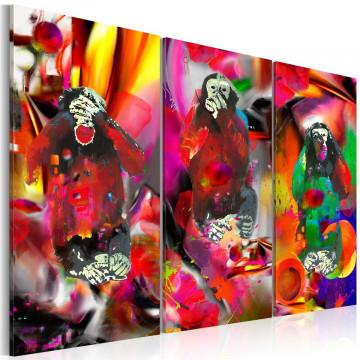 Tablou - Crazy Monkeys - triptych