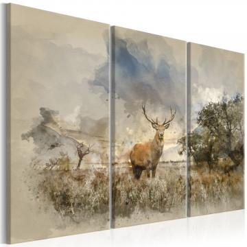 Tablou - Deer in the Field I