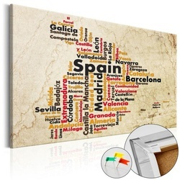 Tablou din plută - Spanish Cities (ES) [Cork Map]