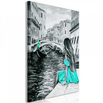 Tablou - Far Dreams (1 Part) Vertical Blue