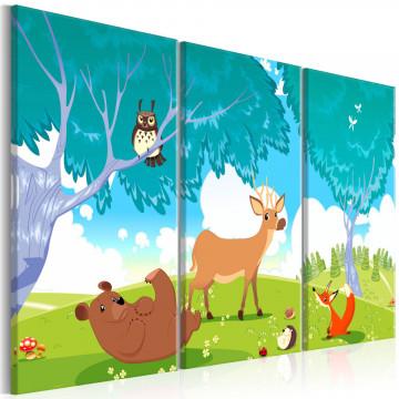 Tablou - Friendly Animals (3 Parts)