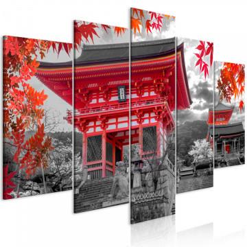 Tablou - Kyoto, Japan (5 Parts) Wide