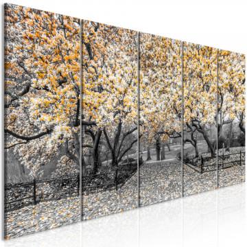 Tablou - Magnolia Park (5 Parts) Narrow Orange