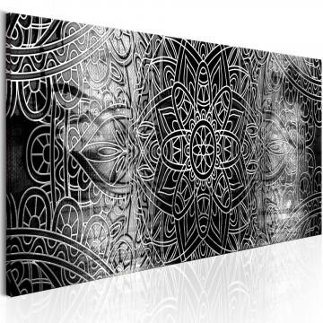 Tablou - Mandala: Grey Depths