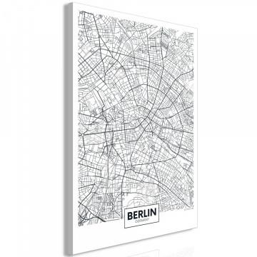 Tablou - Map of Berlin (1 Part) Vertical