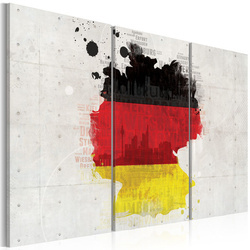 Tablou - Map of Germany - triptych