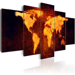 Tablou - Map of the World - Hot lava
